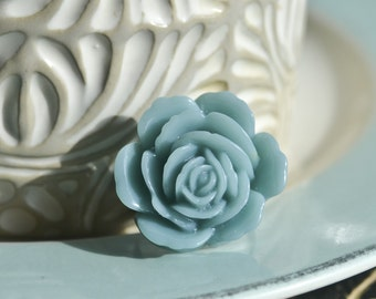 Majestic Rose Ring- Blue Sky