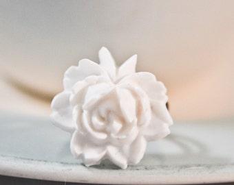 French Rose Ring- White
