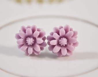 Spring Bloom Earrings - Lilac
