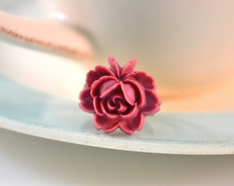 French Rose Ring- Plum