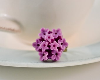 Hydrangea Ring- Grape