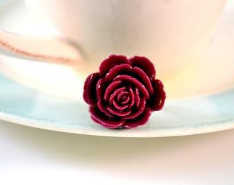 Majestic Rose Ring- Plum