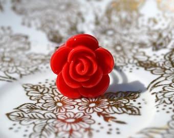 Josalin Rose Ring - Red