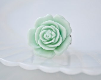 Blooming Rose Ring -Mint