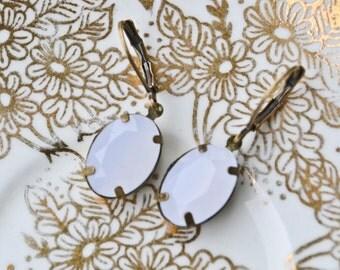 White Droplet Earrings- Last Pair