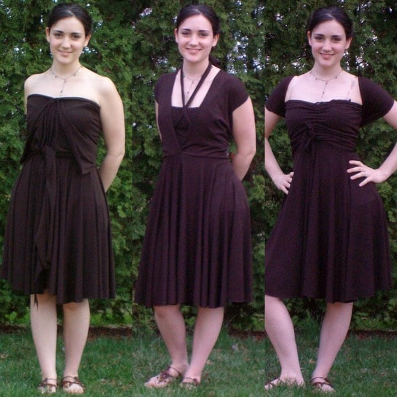 BeyondInfinity dress in Chocolate Brown--2 sizes available: Medium & Large