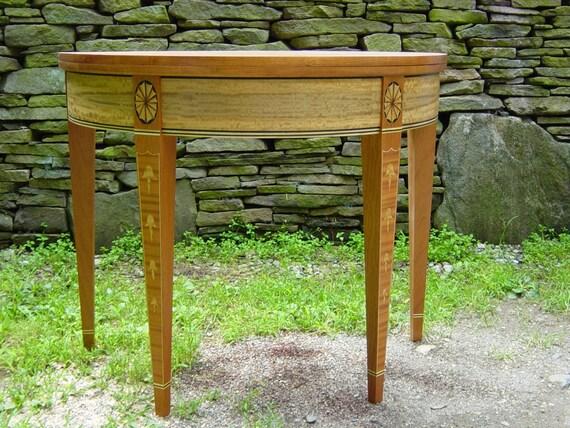 Hepplewhite Card Table Heirloom quality inlaid wood furniture