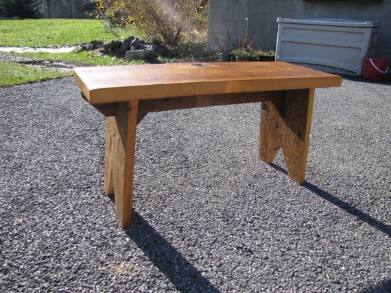 Reclaimed wood Bench rustic pine ready to ship