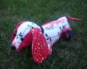 BREA - Stuffed vintage dachshund pdf  sewing pattern animal