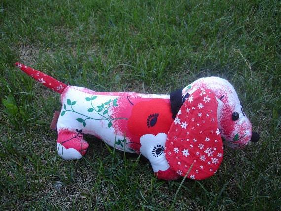 BREA - Stuffed vintage dachshund pdf  sewing pattern animal/DIY Doll/Rag doll/Puppy/beginner sewing pattern,Puppy Tutorial/dog DIY