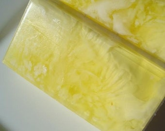 Pineapple Coconut Soap, Coconut Pineapple Soap, White and Yellow Soap, Unisex Soap for Men or Women, Homemade Soap, Pretty Soap, Bar Soap