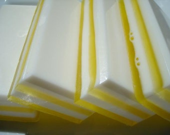 Honeysuckle Soap - Summer Soap - Yellow and White Soap - Homemade Soap - Bar Soap - 1/4 lb Soap - One Quarter Pound Soap