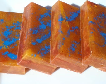 Narcissist Soap , Blue, Red, Orange Soap, Homemade Soap - Best Smelling Soap For Men, Bar Soap, Southwest Artisan - Egyptian Musk Soap -