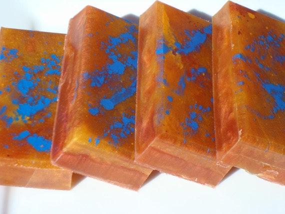 Narcissist Soap - Sunset Soap - Blue, Red, Orange Soap - Egyptian Musk Soap - Artisan Soap - Hoooked Soap - Homemade Soap - Bar Soap