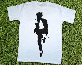 Michael Jackson t-shirt Fathers day gift for dad men teen baby toddler black and white unisex custom tee shirt  Christmas gift