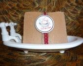Citrus Calendula with Red Clay Goat Milk Soap (5 - 6 oz Bar)