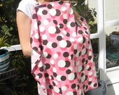 "Nursing covers in ""style"" Pink and Brown"
