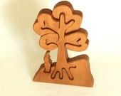 Wooden Puzzle - Tree with Gnome - Pear wood