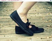 50% OFF SALE Black Keds Canvas Ribbon Bow Tie Deadstock Sneakers 5.5