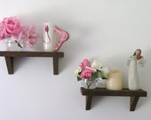 Pair of Rustic Valentine's Day Wood Shelves made with reclaimed Humboldt Milling Company Old Growth Lumber