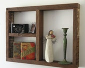 Rustic Wood Shadow Box Shelf made with reclaimed Humboldt Milling Company Old Growth Lumber