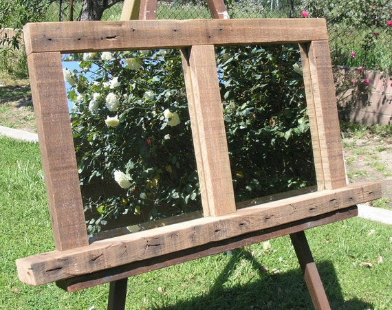 RESERVED - Rustic Wood Framed Mirror - made with reclaimed Humboldt Milling Co. Old Growth Lumber
