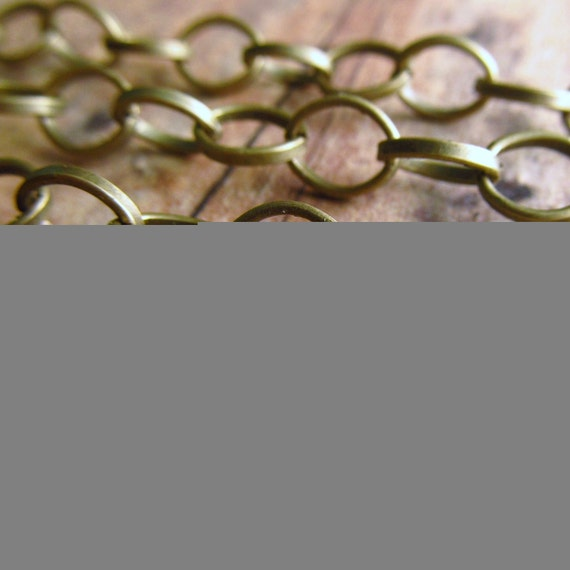 San Cristobal Chain (13 feet) - Antique Bronze - 8mm x 6mm