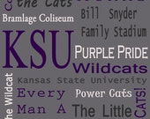 K-State Gray Subway Sign
