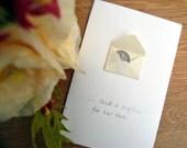 Lucky Sixpence bridal shower wedding card