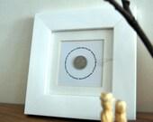 Lucky sixpence bridal shower keepsake gift personalised custom made wedding