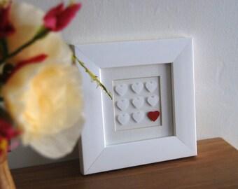 Valentines day gift Hearts Wedding keepsake personalised anniversary made bridal shower I love you