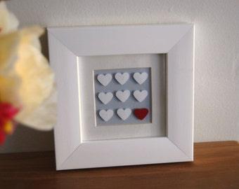 Valentines gift Hearts custom made bridal shower I love you Wedding keepsake Anniversary
