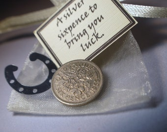 Sixpence good luck charm gift