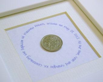 Confirmation gift lucky sixpence keepsake personalised custom made child