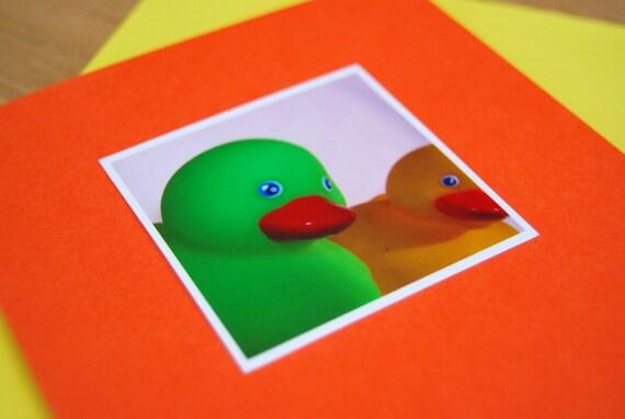 Childrens birthday card: Rubber ducks