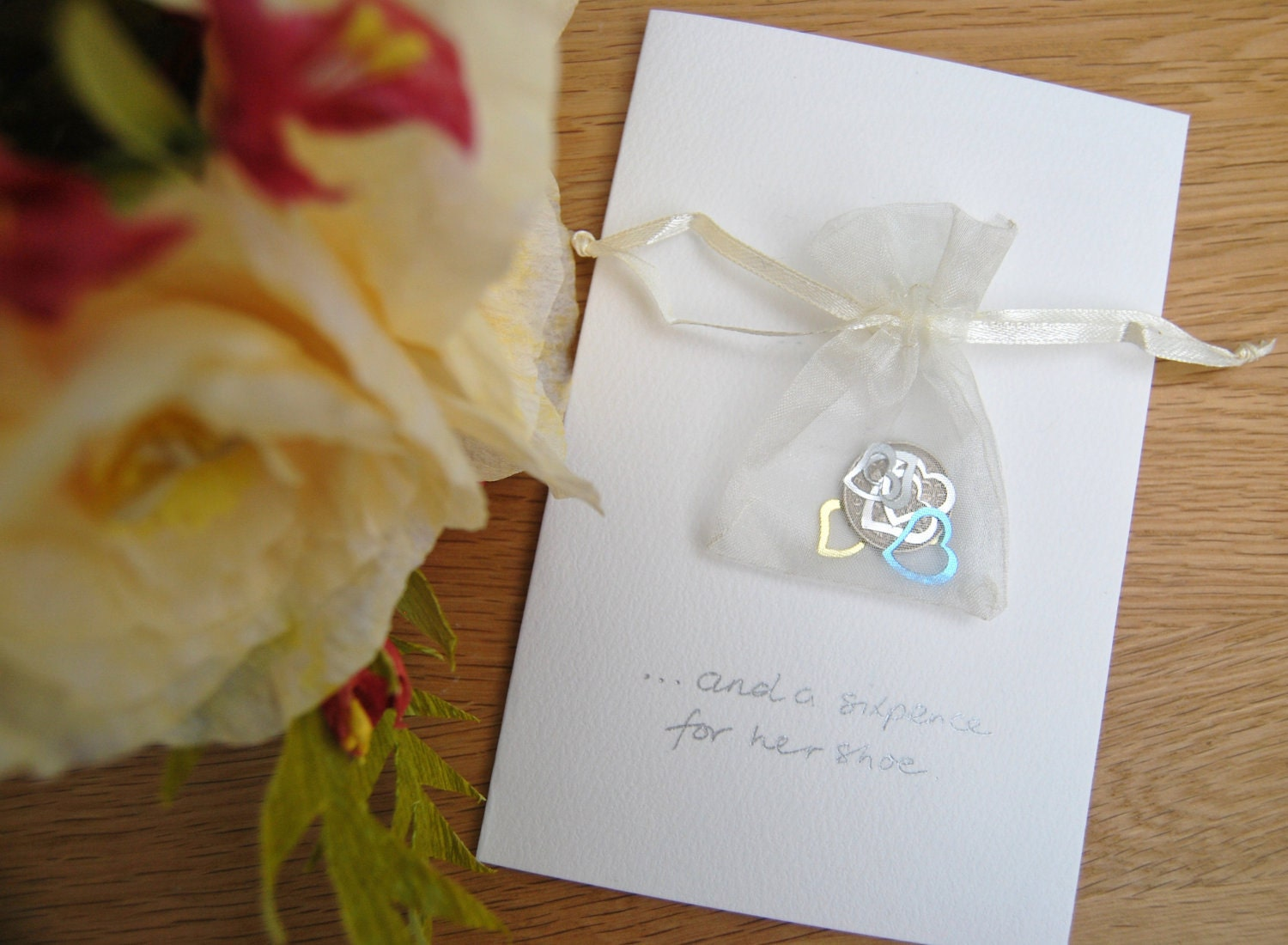 6 Pence Wedding Gift : Lucky sixpence wedding card for bride