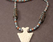 Turquoise and Arrow Head Necklace