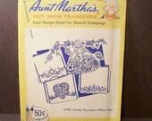 Vintage Aunt Martha's Transfer  ( lovely foursome for pillow slips )