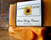 Carrot Soap, Handmade Soap, with Carrots and Honey,  Natural soap Rich with Vitamins