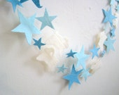 Blue, Lt Blue, Cream Lamb Party, Birthday, Baby Shower, Home/Room Decor, Nursey Counting Sheep Garland 8' FREE SHIPPING