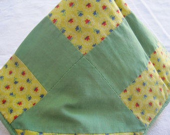 Spring green floral pillow sham
