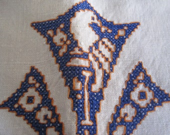 Embroidery De Assissi Arts and Crafts Towel