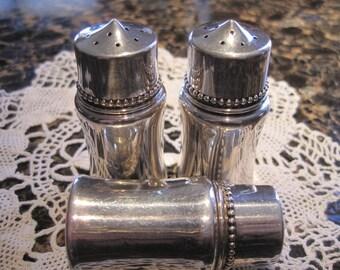 Sterling Silver Set of Antique Salt & Pepper Shakers