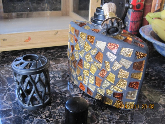 Vintage Mosaic Fragrance Lamp Lampe Berger Style