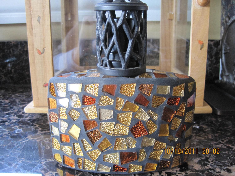 vintage mosaic fragrance lamp lampe berger style. Black Bedroom Furniture Sets. Home Design Ideas