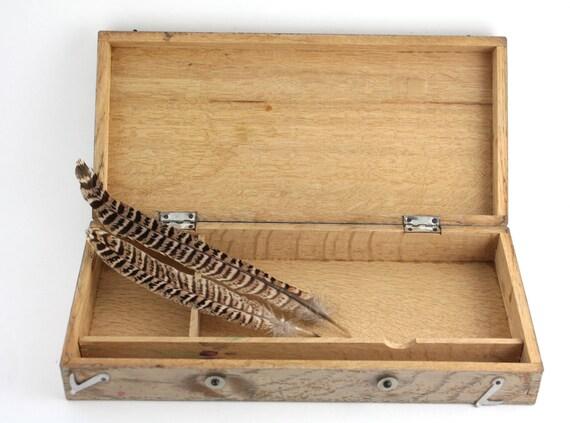 vintage science lab wooden box