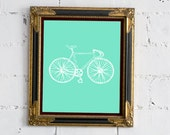 Mint Bicycle 8x10 Print - FREE SHIPPING