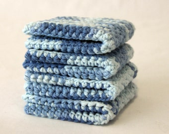 set of 4 Cotton Wash Cloths