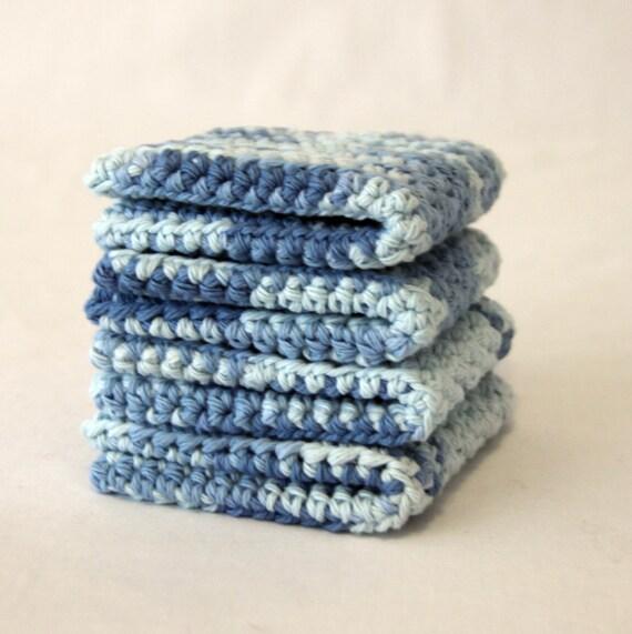 set of 4 Cotton Wash Cloths