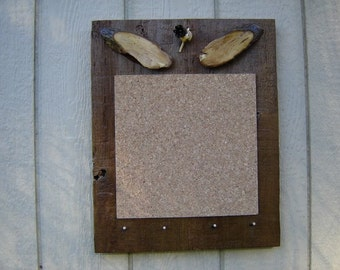 Rustic Bulletin Boards with key pegs